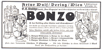 Advert for German Bonzo books