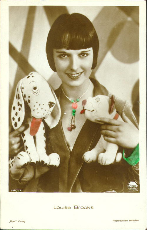 Louise Brooks, hand tinted