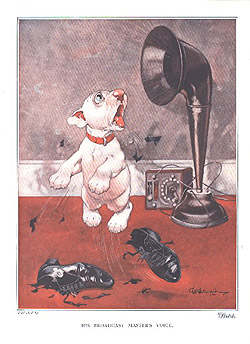 His broadcast masters voice